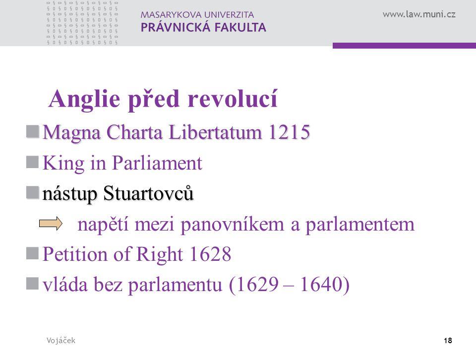 Anglie před revolucí Magna Charta Libertatum 1215 King in Parliament
