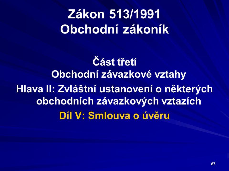 Zákon 513/1991 Obchodní zákoník