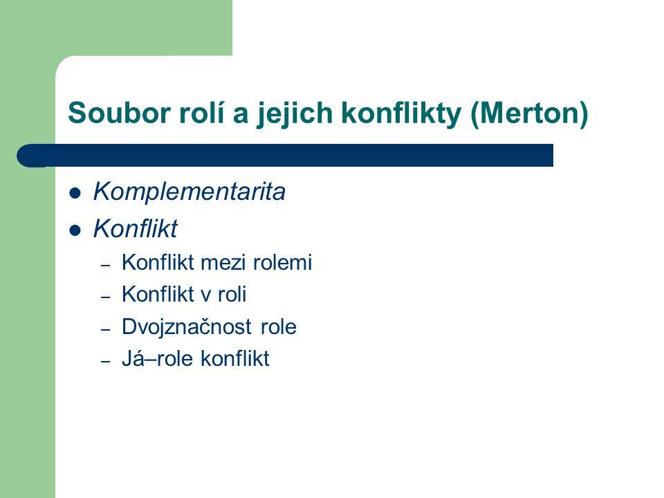 Soubor rolí a jejich konflikty (Merton)
