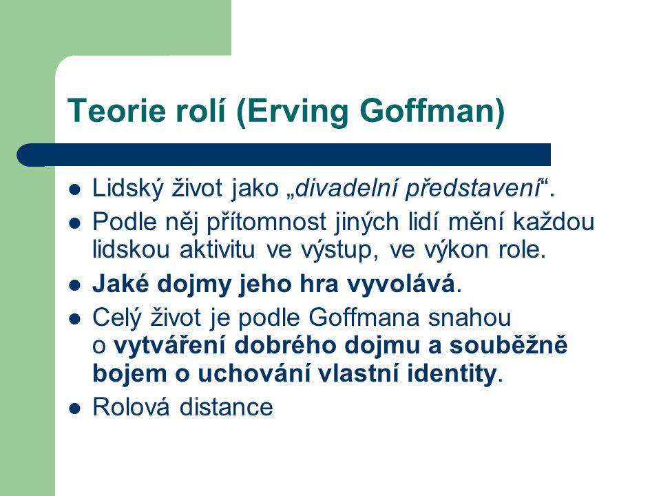 Teorie rolí (Erving Goffman)