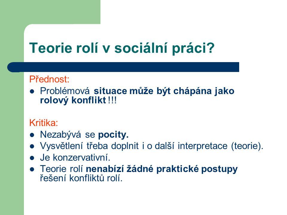 Teorie rolí v sociální práci