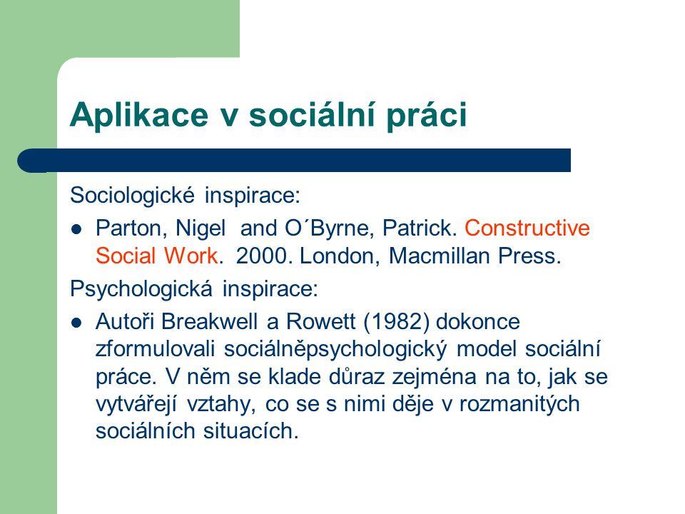 Aplikace v sociální práci
