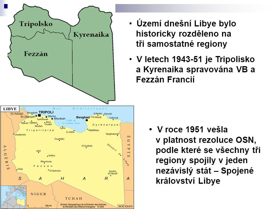 Území dnešní Libye bylo historicky rozděleno na tři samostatné regiony