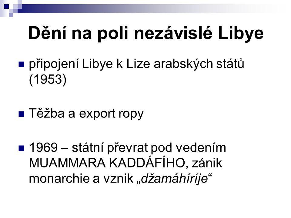 Dění na poli nezávislé Libye