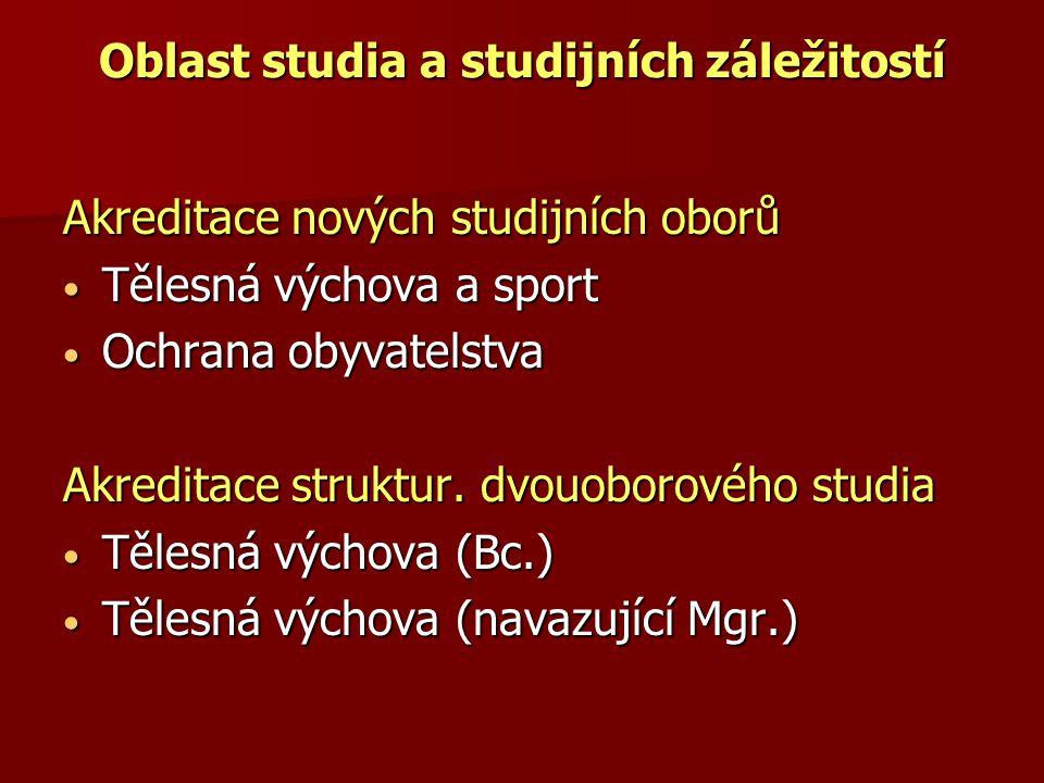 Oblast studia a studijních záležitostí