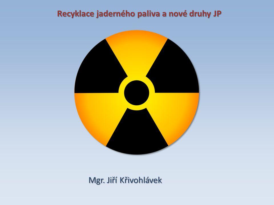 Recyklace jaderného paliva a nové druhy JP