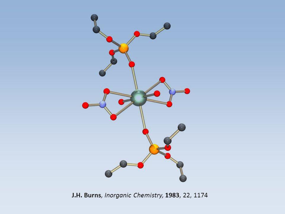 J.H. Burns, Inorganic Chemistry, 1983, 22, 1174