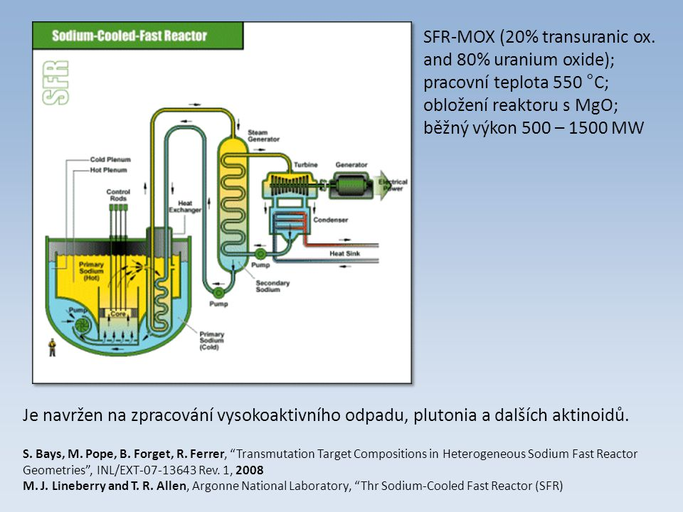 SFR-MOX (20% transuranic ox. and 80% uranium oxide);