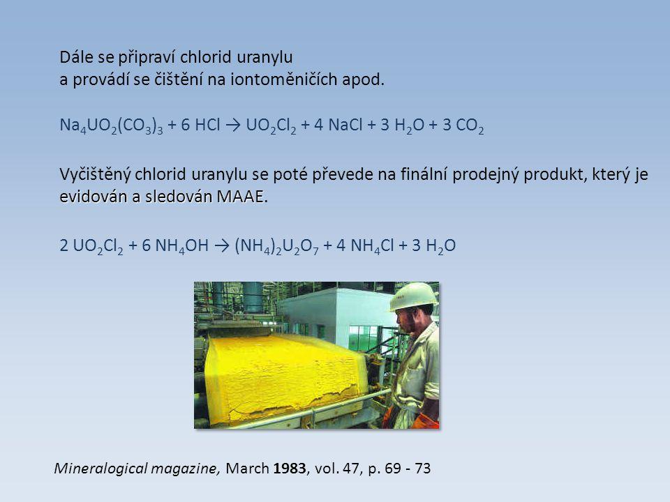 Dále se připraví chlorid uranylu