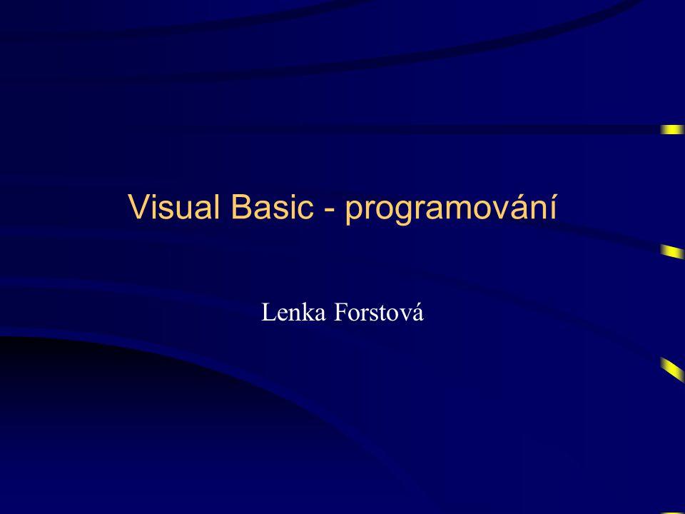 Visual Basic - programování