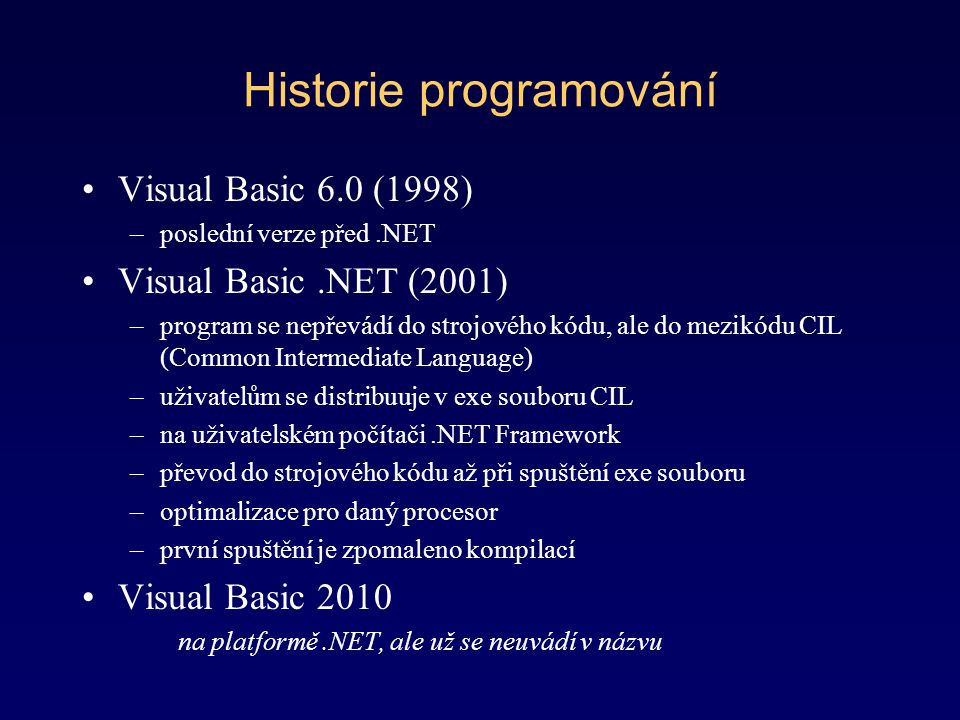 Historie programování