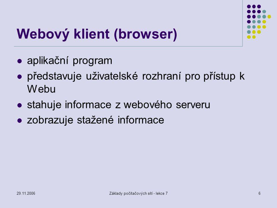 Webový klient (browser)