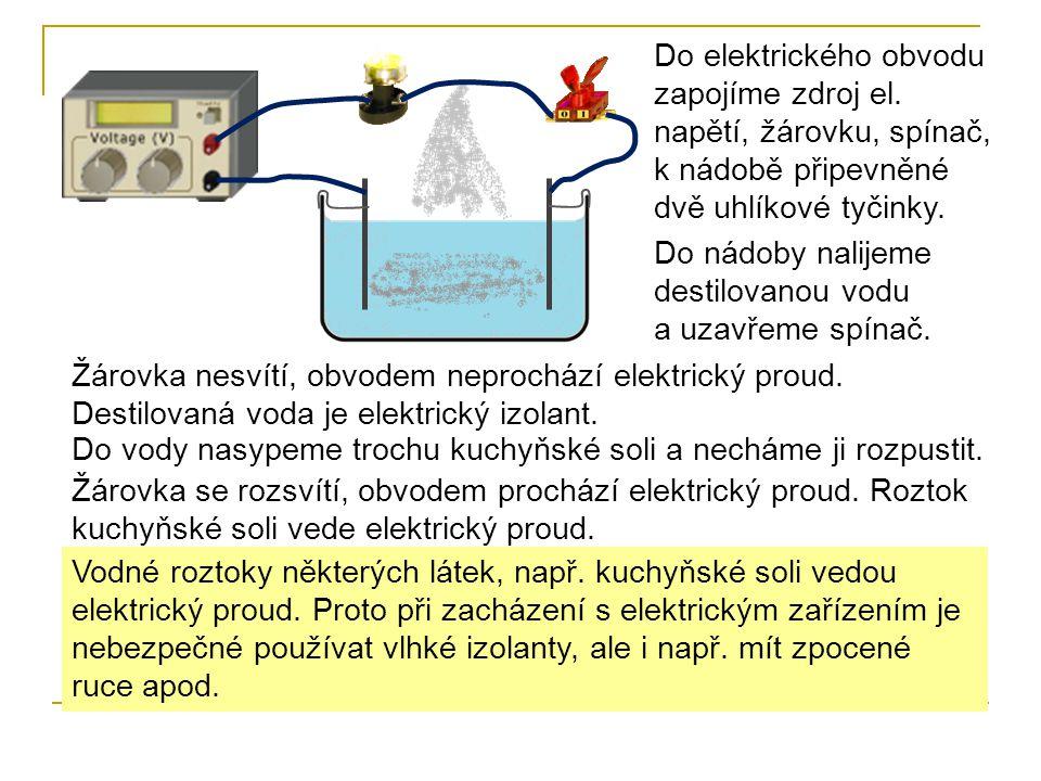 Do elektrického obvodu zapojíme zdroj el