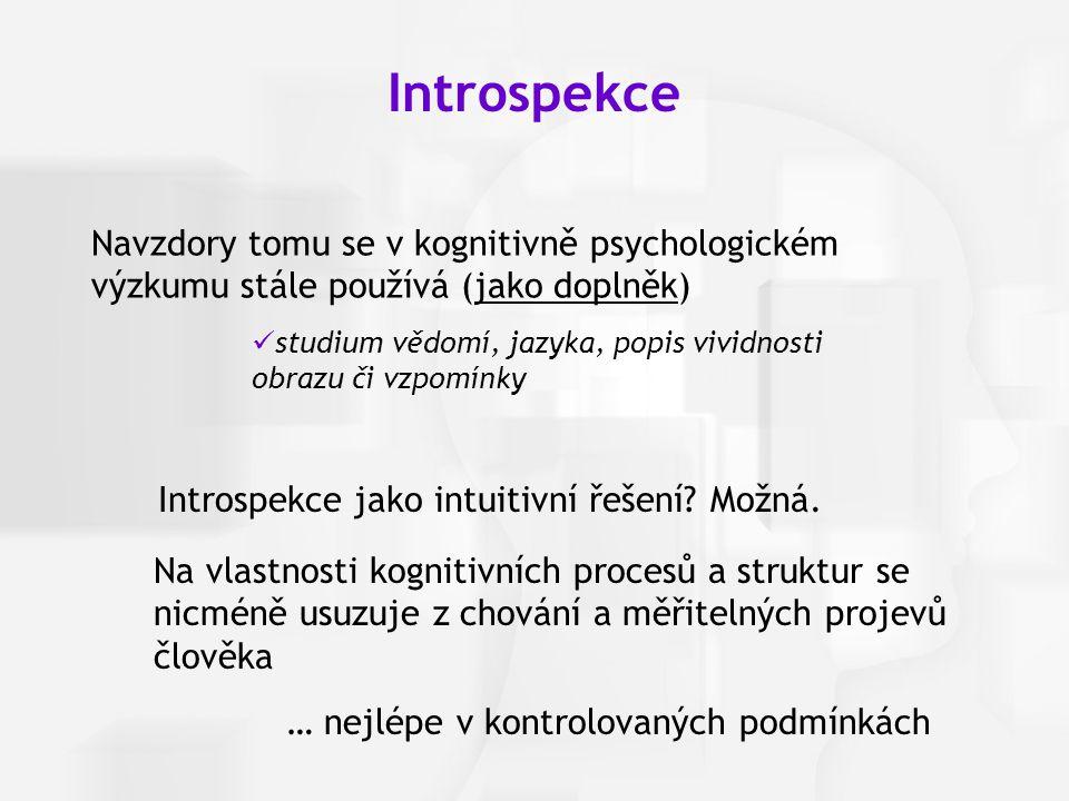 Introspekce jako intuitivní řešení Možná.