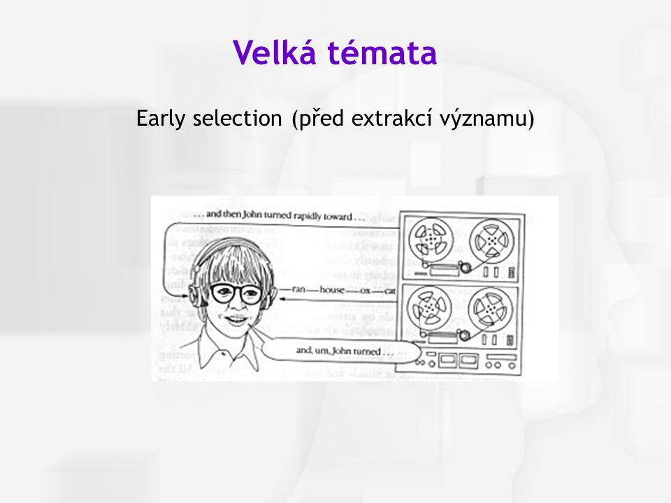 Early selection (před extrakcí významu)