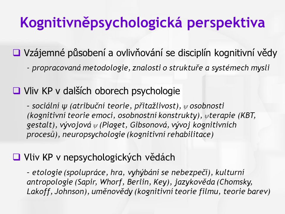 Kognitivněpsychologická perspektiva