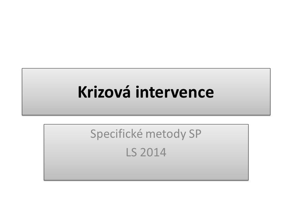 Specifické metody SP LS 2014