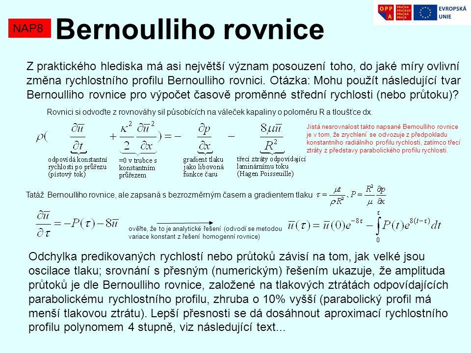 Bernoulliho rovnice NAP8