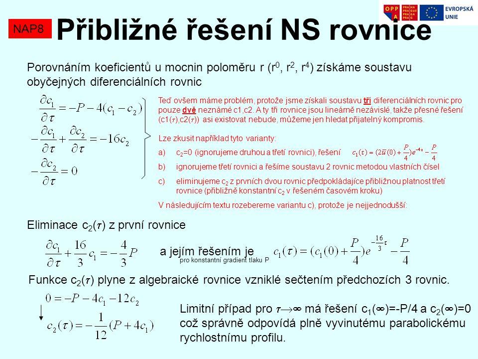Přibližné řešení NS rovnice