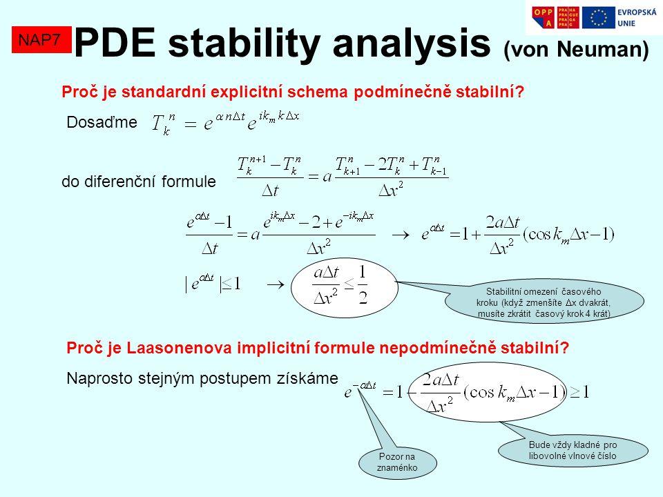 PDE stability analysis (von Neuman)