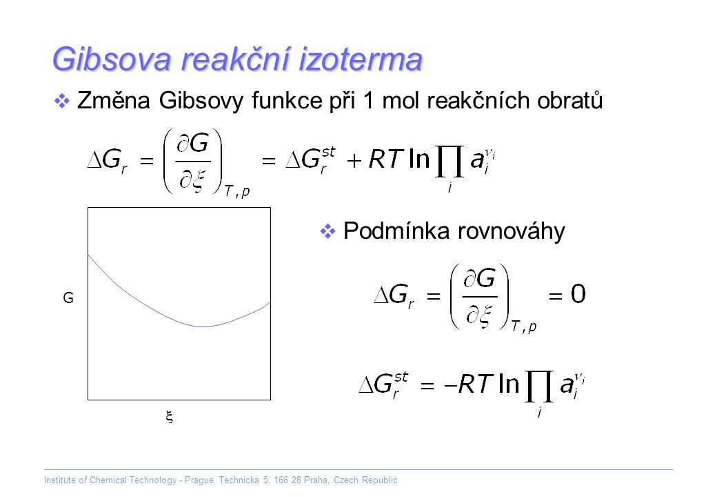 Gibsova reakční izoterma