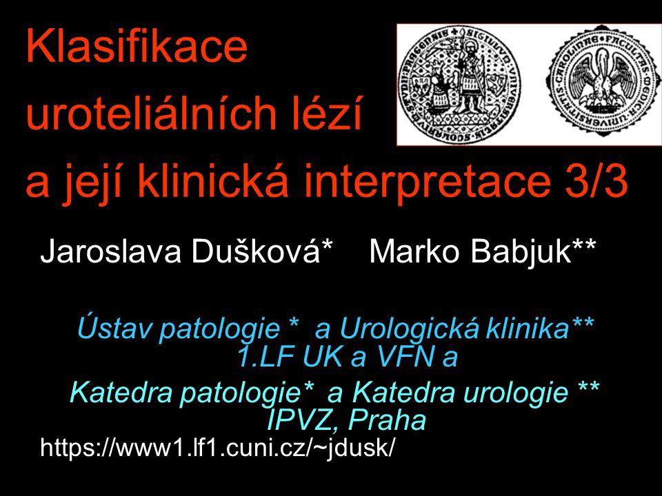 Klasifikace uroteliálních lézí a její klinická interpretace 3/3