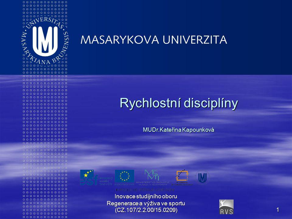 Rychlostní disciplíny MUDr.Kateřina Kapounková