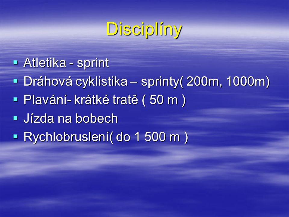 Disciplíny Atletika - sprint