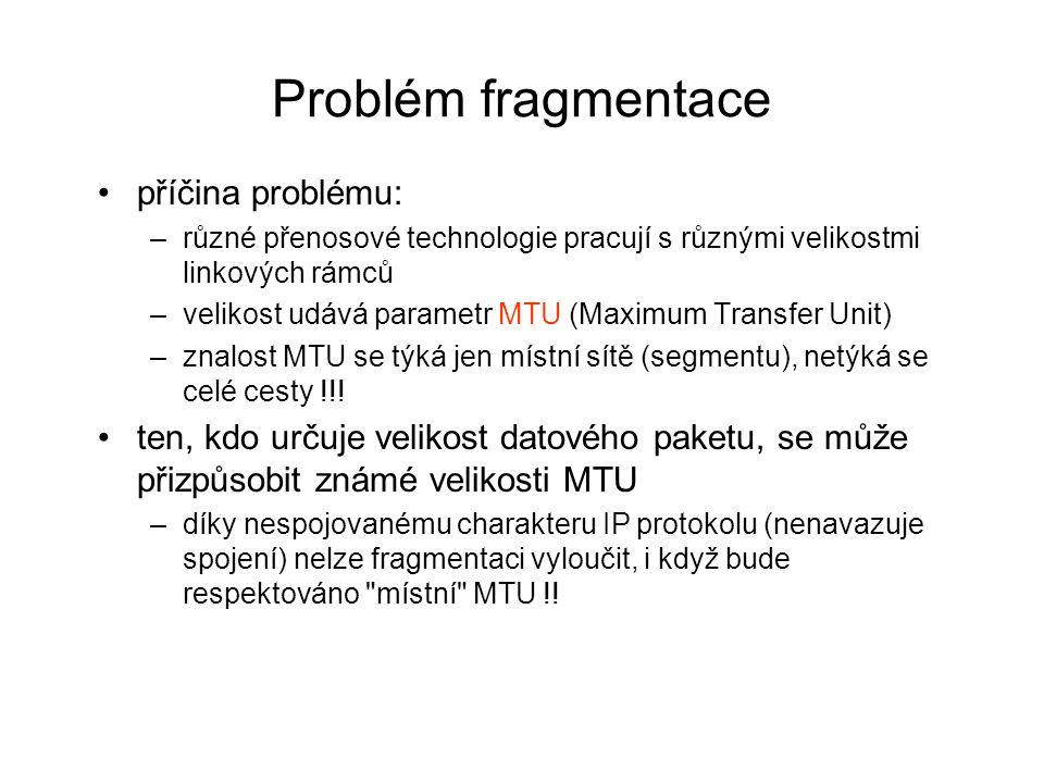 Problém fragmentace příčina problému: