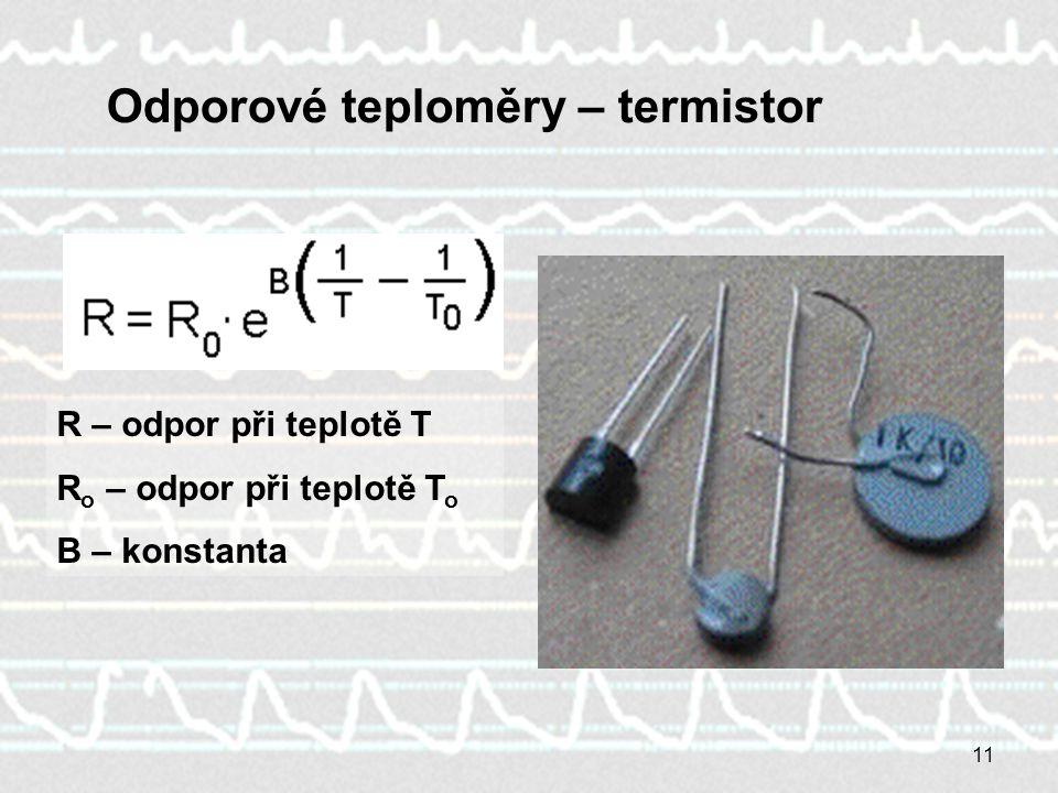 Odporové teploměry – termistor