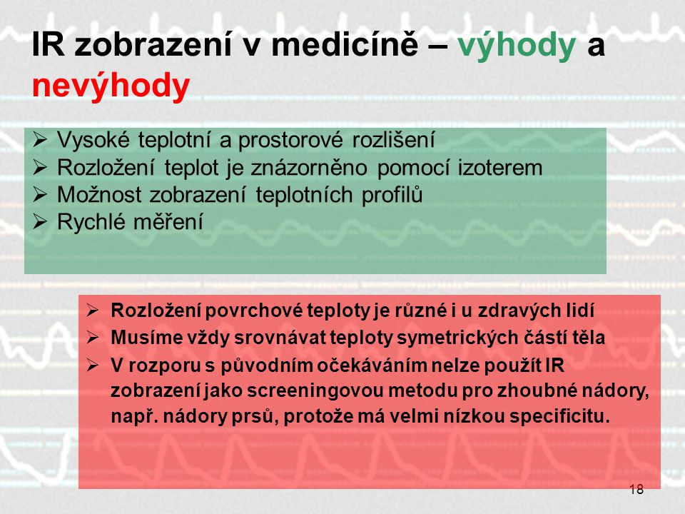 IR zobrazení v medicíně – výhody a nevýhody
