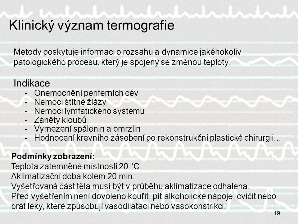 Klinický význam termografie