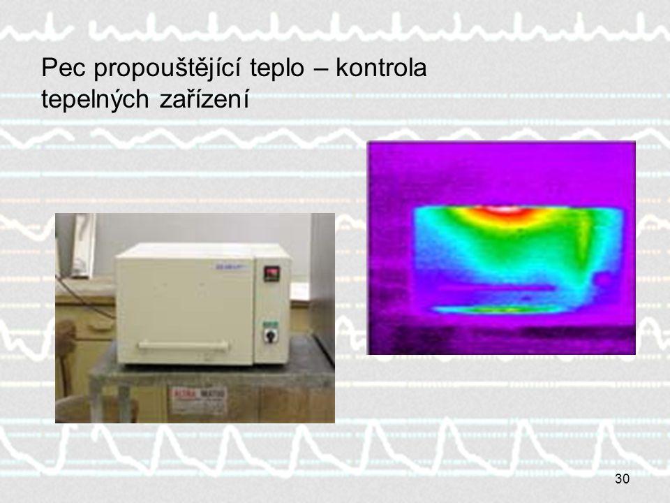 Pec propouštějící teplo – kontrola tepelných zařízení