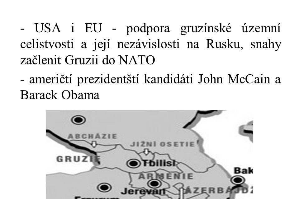 - američtí prezidentští kandidáti John McCain a Barack Obama