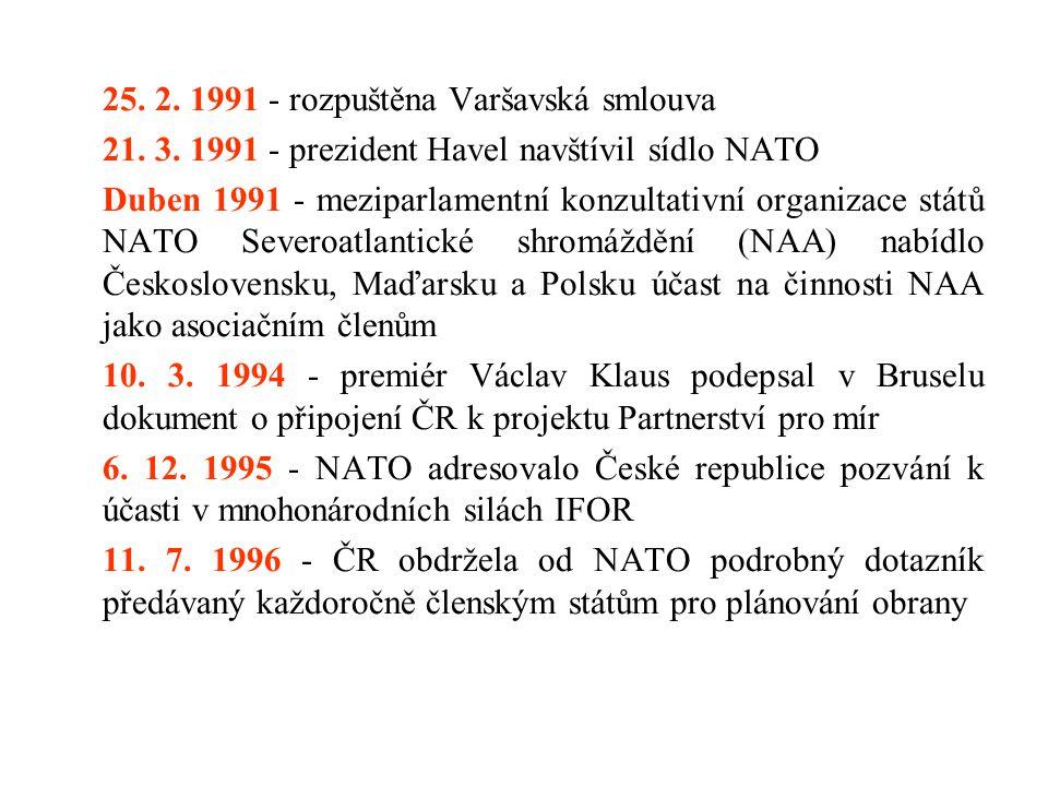 21. 3. 1991 - prezident Havel navštívil sídlo NATO