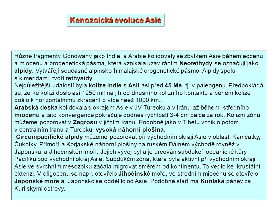 Kenozoická evoluce Asie
