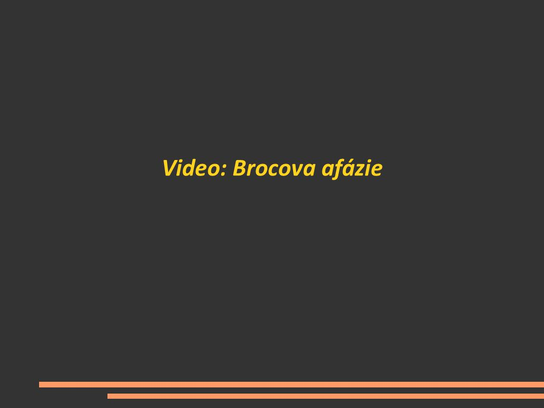 Video: Brocova afázie