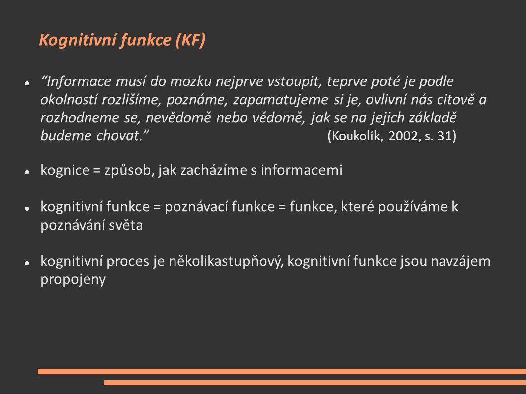 Kognitivní funkce (KF)