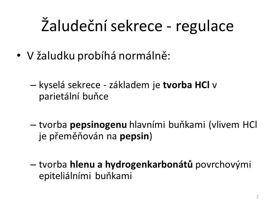 Žaludeční sekrece - regulace