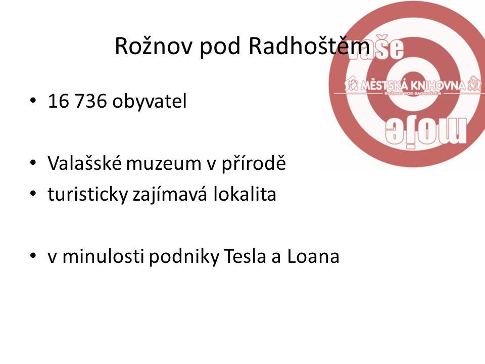 Rožnov pod Radhoštěm 16 736 obyvatel Valašské muzeum v přírodě