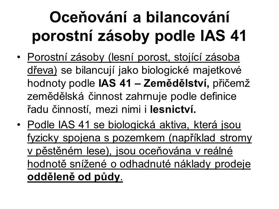 Oceňování a bilancování porostní zásoby podle IAS 41