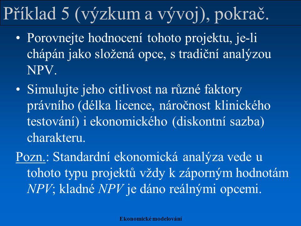 Příklad 5 (výzkum a vývoj), pokrač.