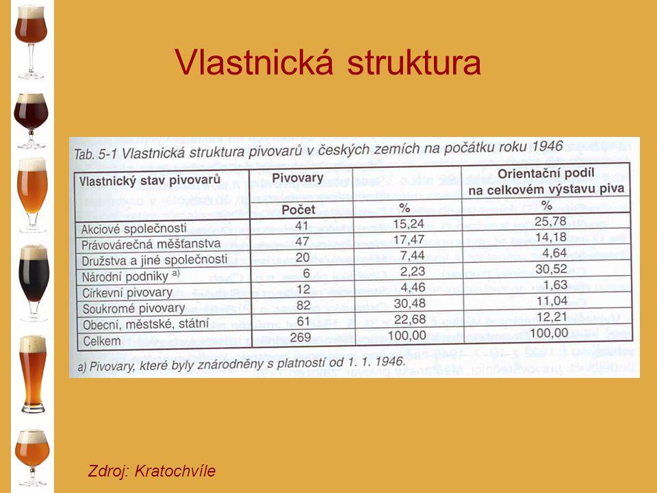 Vlastnická struktura Zdroj: Kratochvíle