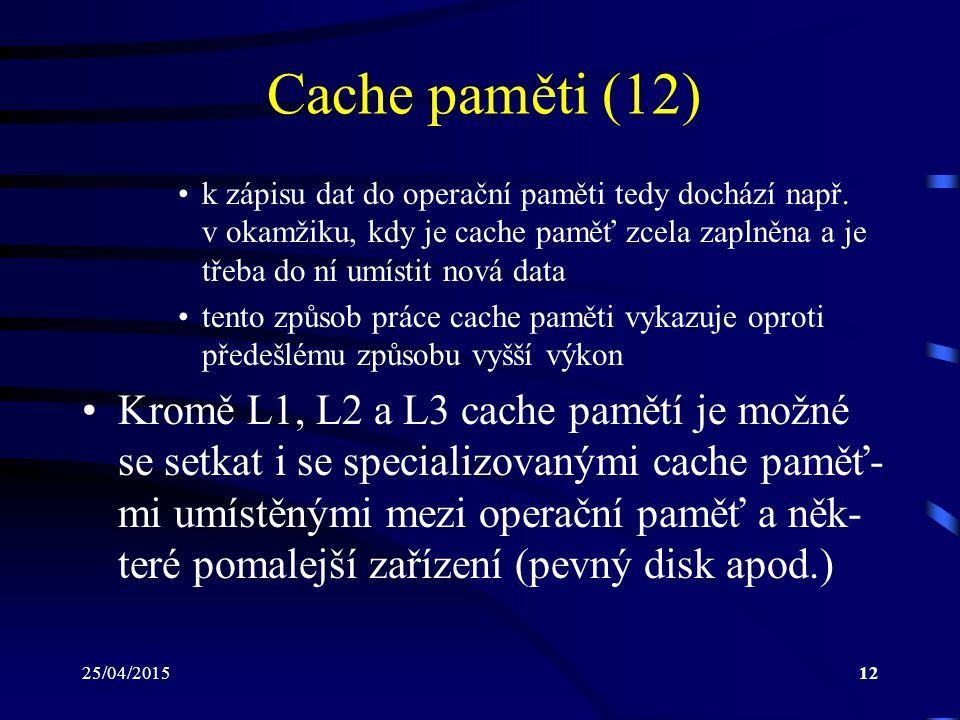 Cache paměti (12)