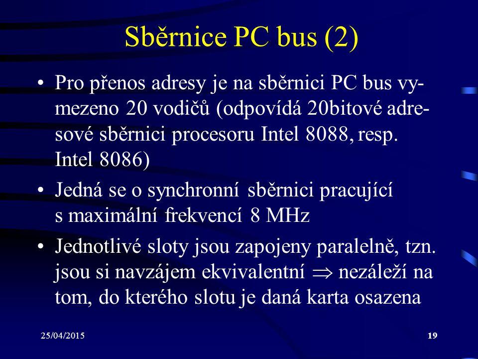 Sběrnice PC bus (2)
