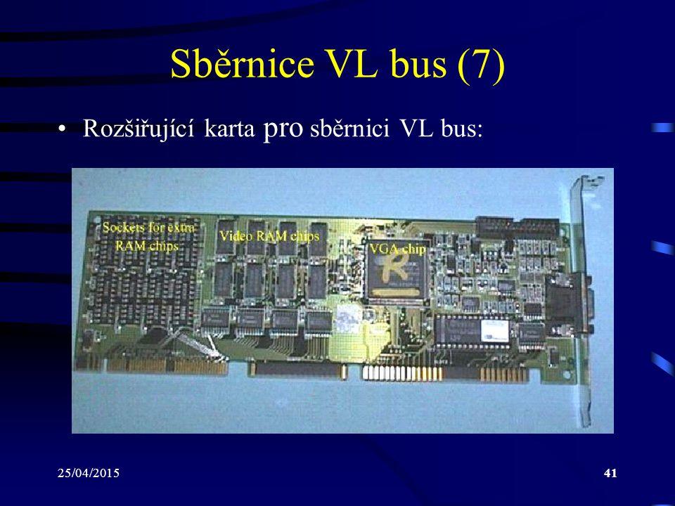 Sběrnice VL bus (7) Rozšiřující karta pro sběrnici VL bus: 14/04/2017