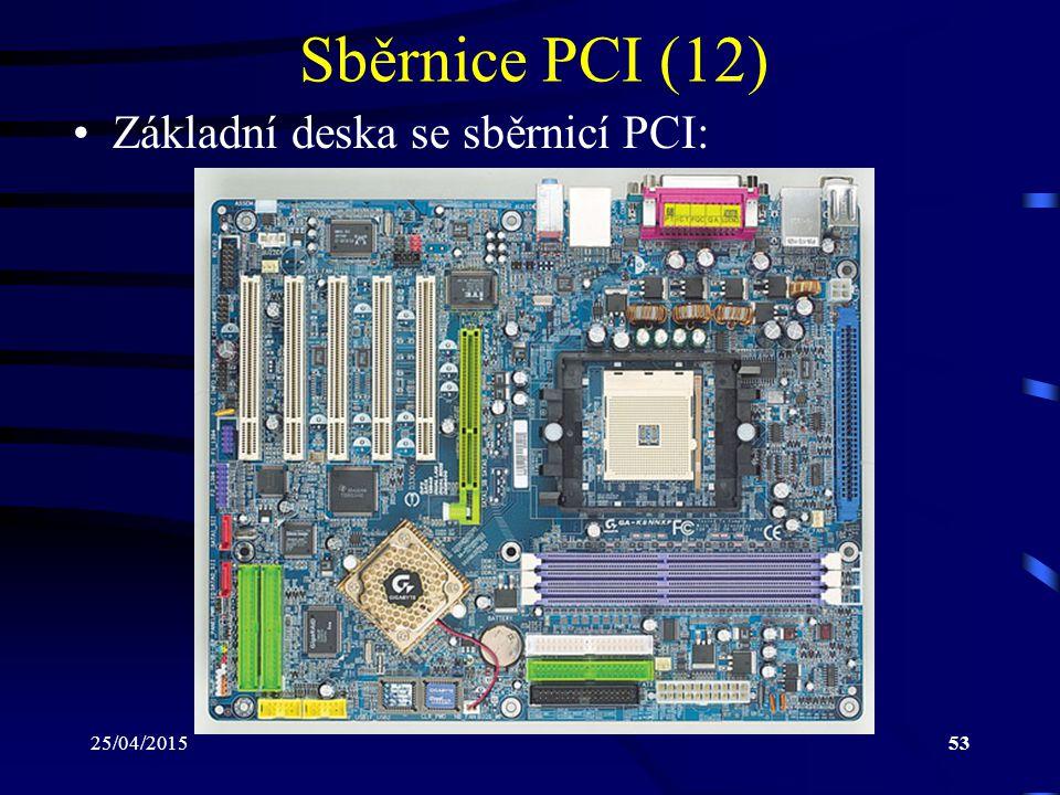Sběrnice PCI (12) Základní deska se sběrnicí PCI: 14/04/2017