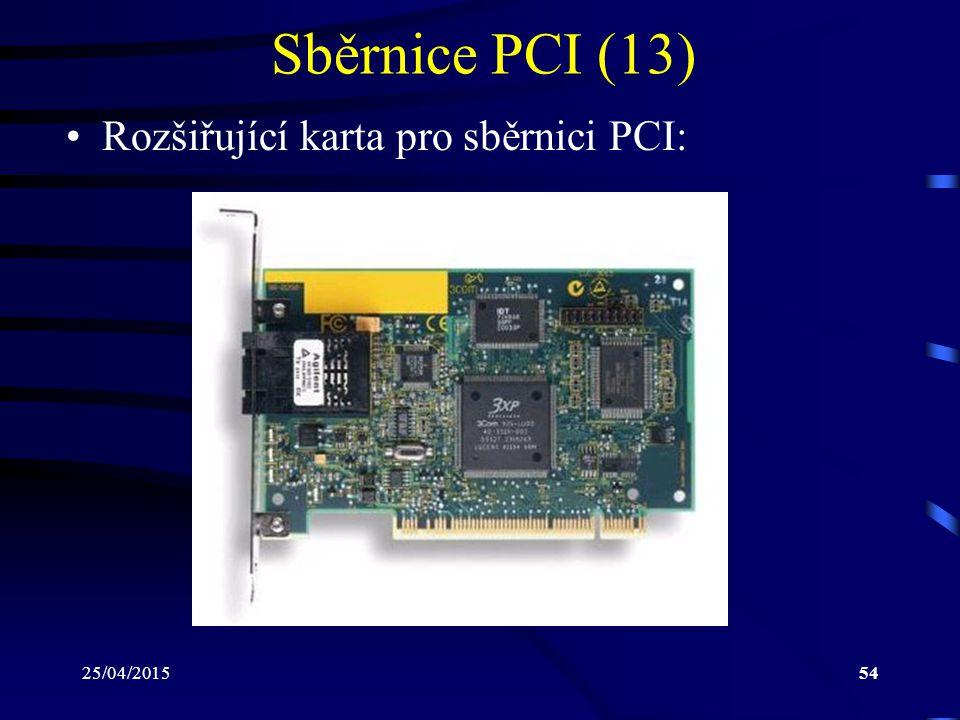 Sběrnice PCI (13) Rozšiřující karta pro sběrnici PCI: 14/04/2017