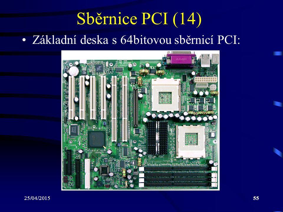 Sběrnice PCI (14) Základní deska s 64bitovou sběrnicí PCI: 14/04/2017