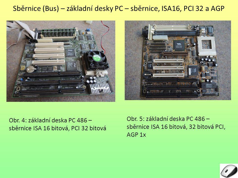 Sběrnice (Bus) – základní desky PC – sběrnice, ISA16, PCI 32 a AGP